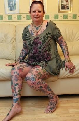 英国纹身最多的女子