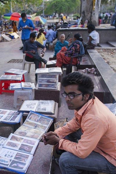 印度街头摆摊纹身