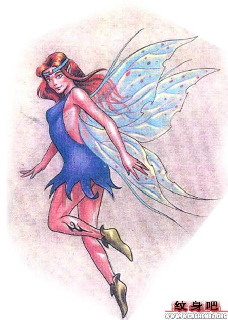 天使纹身图案大全 > 正文            女人腹部图腾精灵纹身图案