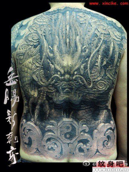 满背猪八戒纹身图案_纹身图案大图片