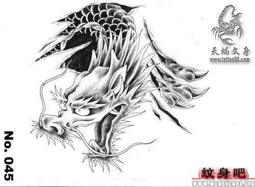 龙纹身手稿简单分享展示